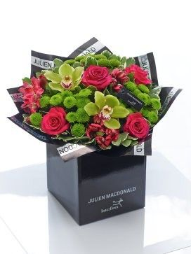 Julien Macdonald Vibrant Orchid and Rose Hand-tied