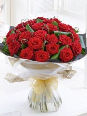 24 Luxury Long Stem Roses Hand-tied