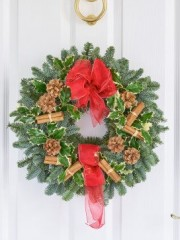 Traditional Christmas Door Wreath