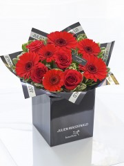 Julien Macdonald Valentine's Gerbera and Rose Hand-tied