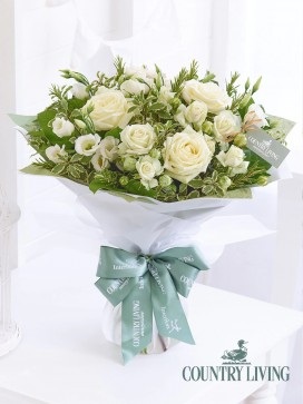 Country Living Mother's Day White Elegance Hand-tied