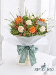 Country Living Autumn Glow Rose and Hypericum Hand-Tied