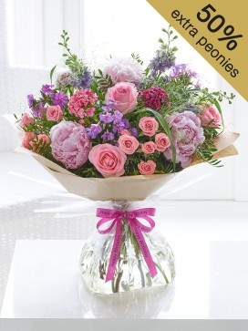 Happy Birthday Cottage Garden Hand-tied