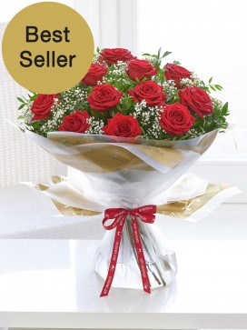 Happy Anniversary Heavenly Red Rose Hand-Tied