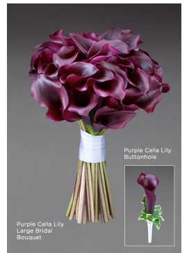 Purple Calla Lily Large Bridal Bouquet