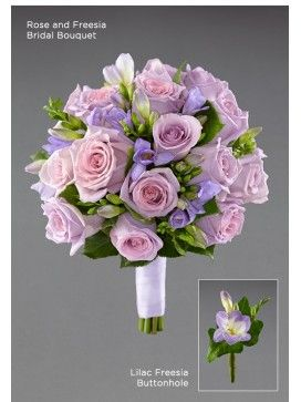 Rose and Freesia Bridal Bouquet